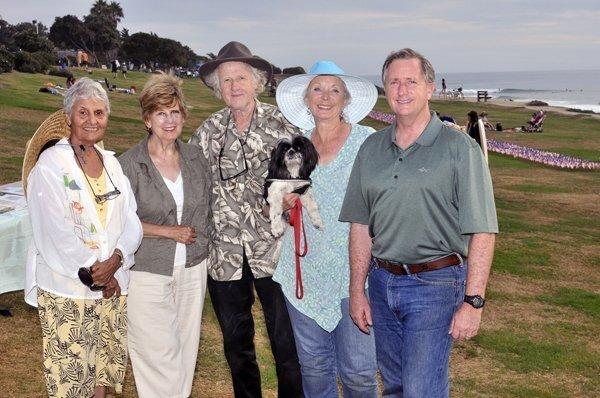 Tensia Trejo, Wanda Hatton, Vernon Scott and event organizer Barbara Krystoff-Scott, Richard Scott