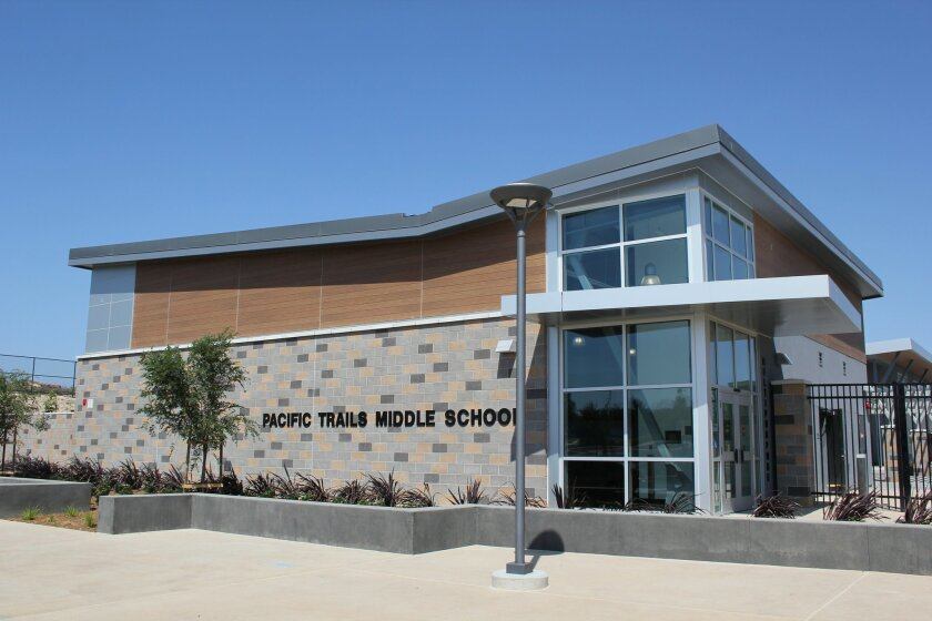 The new Pacific Trails Middle School is ready to open to seventh-graders on Aug. 25. Photo by Karen Billing
