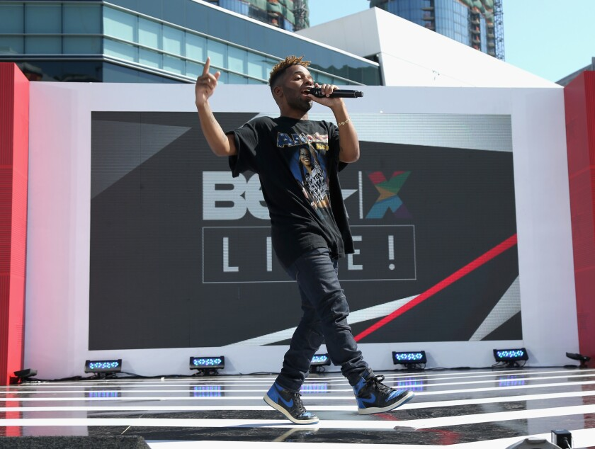 LOS ANGELES, CA - JUNE 22: Recording artist MadeinTYO performs onstage at day one of BETX Live!, presented by Denny's, during the 2017 BET Experience on June 22, 2017 in Los Angeles, California. (Photo by Bennett Raglin/Getty Images for BET)