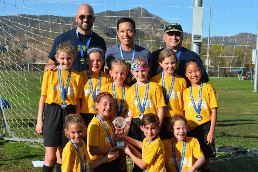 Del Mar Carmel Valley Sharks Gold All-Star team