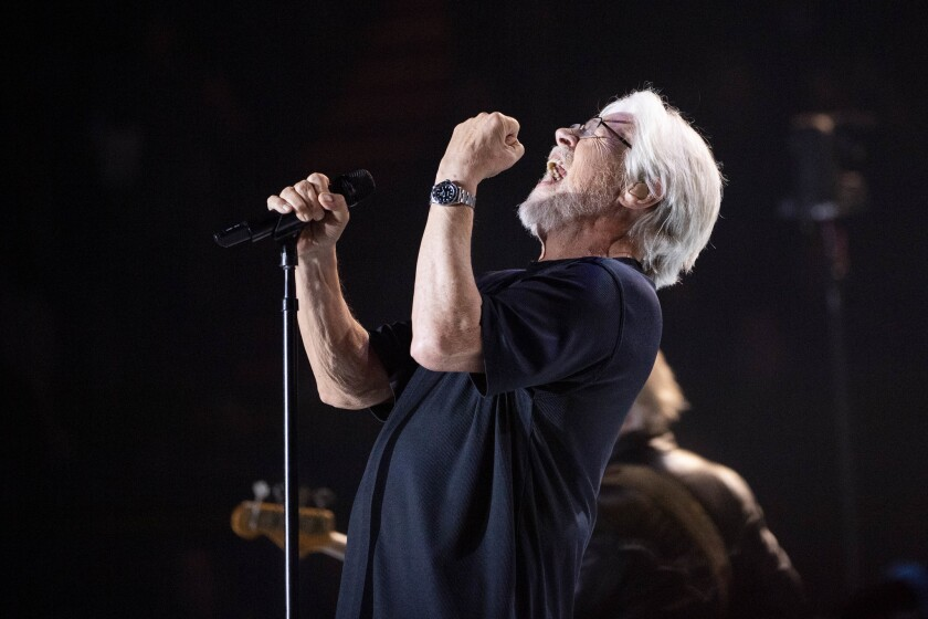 Bob Seger performs Saturday night at the Forum in Inglewood.