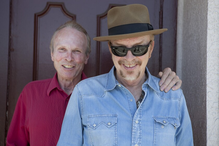Sibling musicians Phil, left, and Dave Alvin, founding members of the Blasters.