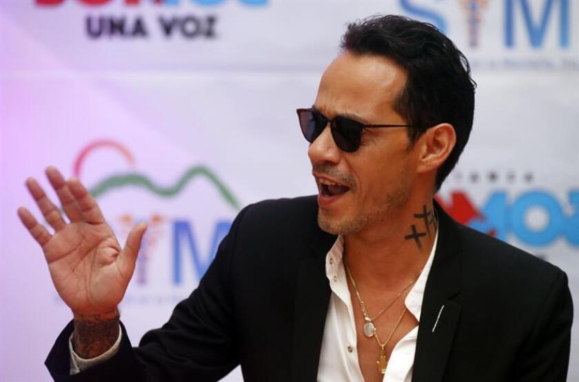 Fotografía del cantante estadounidense de padres puertorriqueños, Marc Anthony. EFE/Archivo