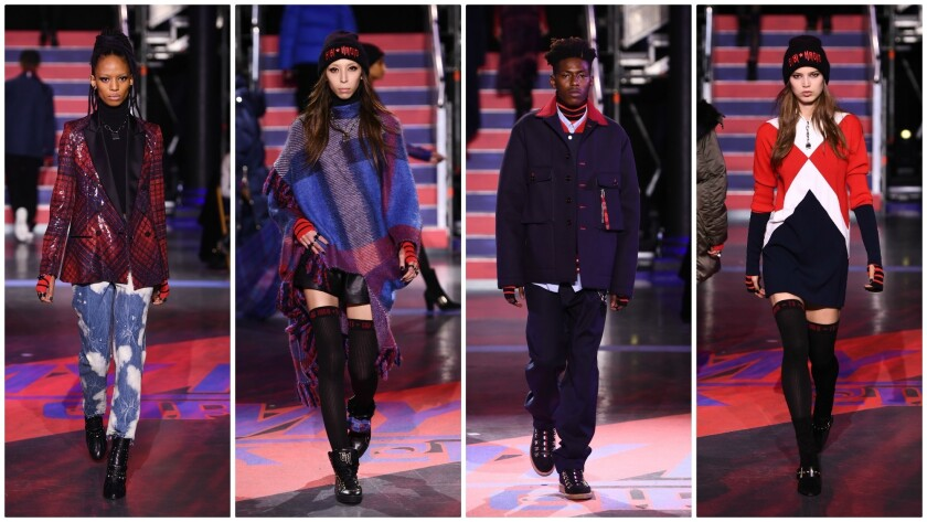 "More fall and winter 2017 looks from the ""TommyNow: Rock Circus"" fashion show during London Fashion"