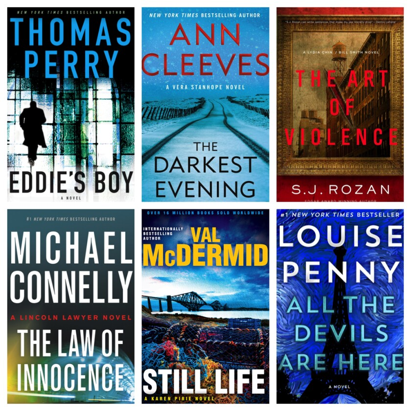 Book covers of some of the best crime-series novels of fall 2020