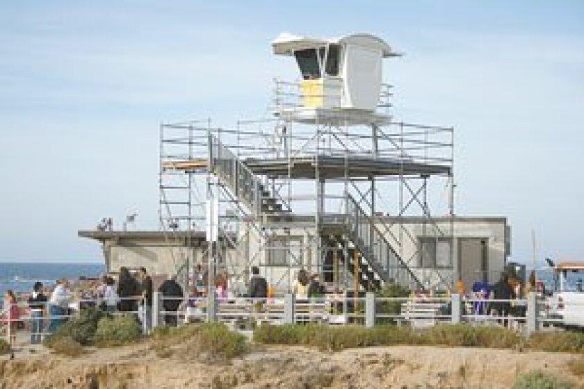Lifeguard tower at the La Jolla Children's Pool. Photo: File