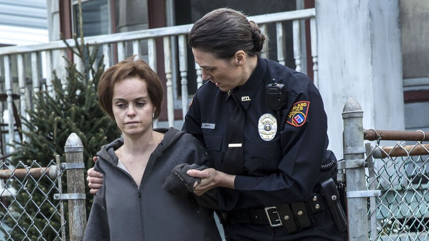 """Taryn Manning, left, in """"Cleveland Abduction"""" on Lifetime."""