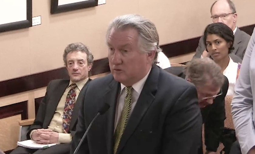 Former chemistry industry lobbyist Grant D. Gillham testifies at a hearing last month that he was misled about the safety of the products he was promoting.