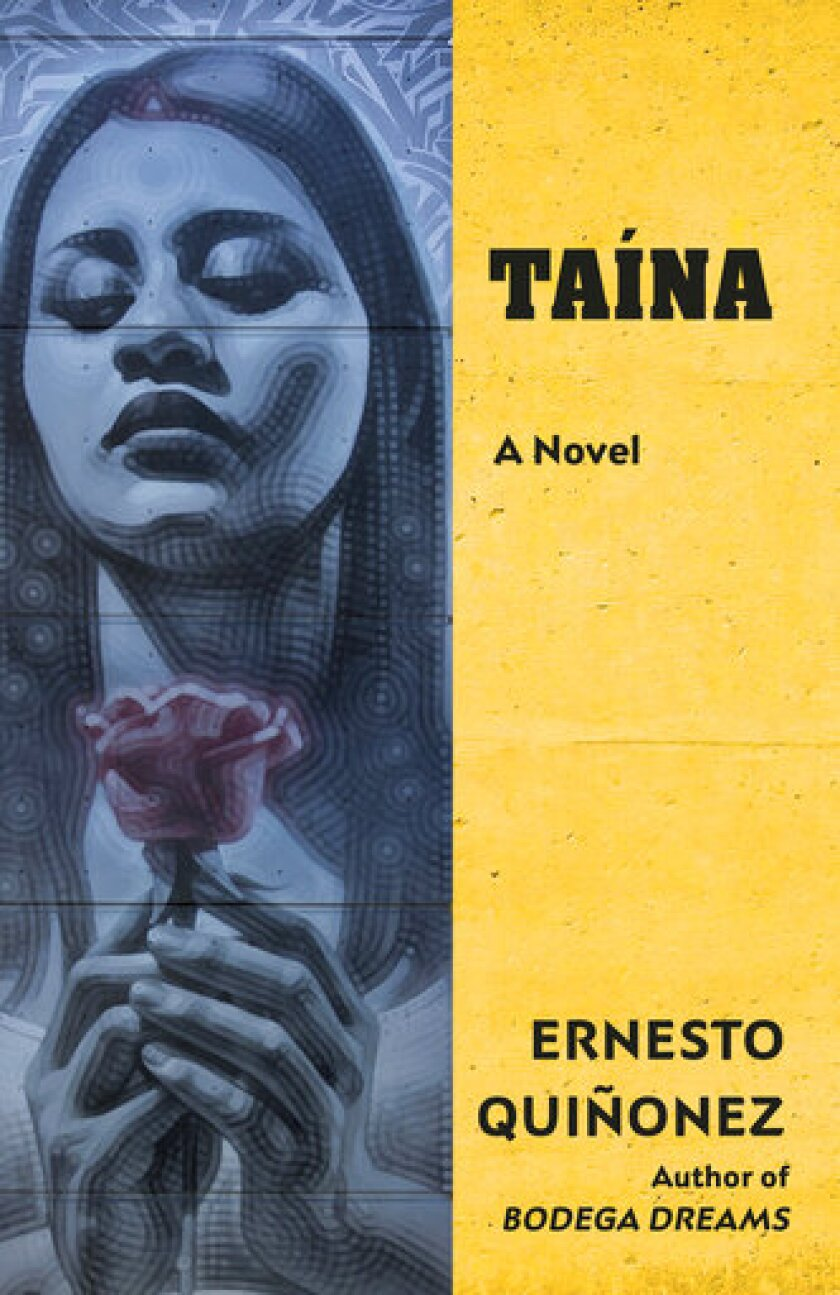 """This cover image released by Vintage Books shows """"Taina,"""" a novel by Ernesto Quinonez. (Vintage Books via AP)"""