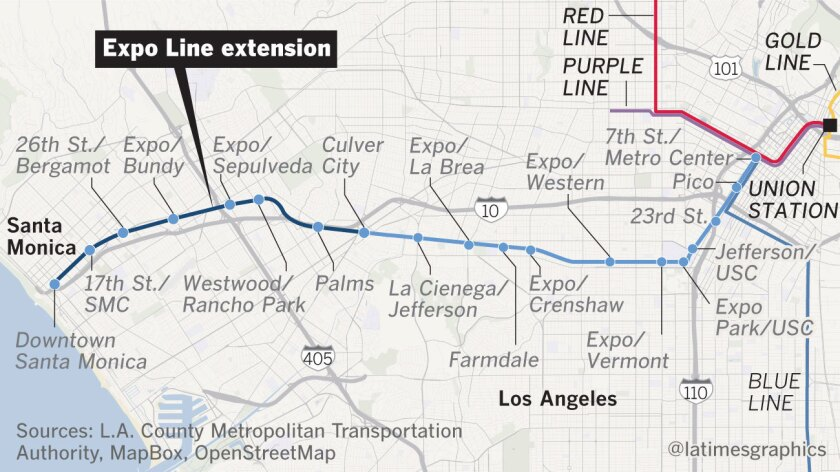Red Line Los Angeles Subway Map.Will Santa Monica S Expo Line Get You Out Of Your Car Los Angeles