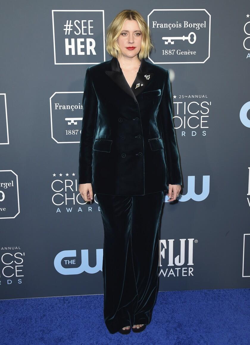 Greta Gerwig at the 25th Critics' Choice Awards.