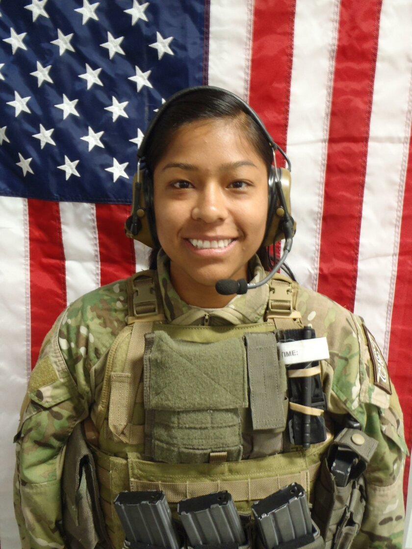 Then-Army 1st Lt. Jennifer Moreno