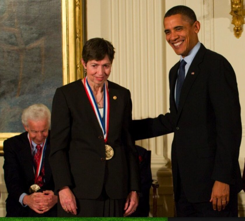 President Obama awarded UCSD Chancellor Marye Anne Fox the National Medal of Science during a ceremony today at the White House.