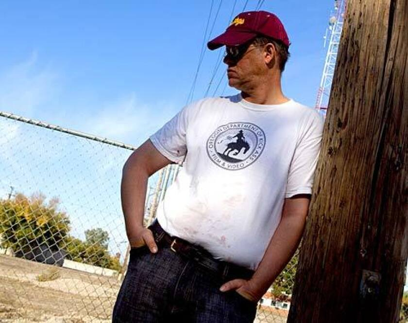 """William T Vollmann, who has just published """"Imperial,"""" his latest book, near his home in Sacramento, California."""