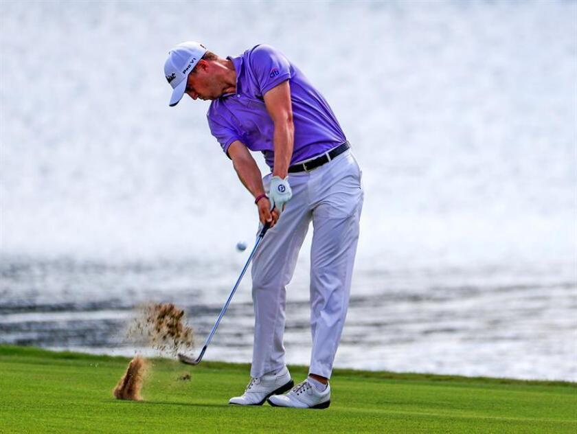 En la imagen, el golfista estadounidense Justin Thomas. EFE/Archivo
