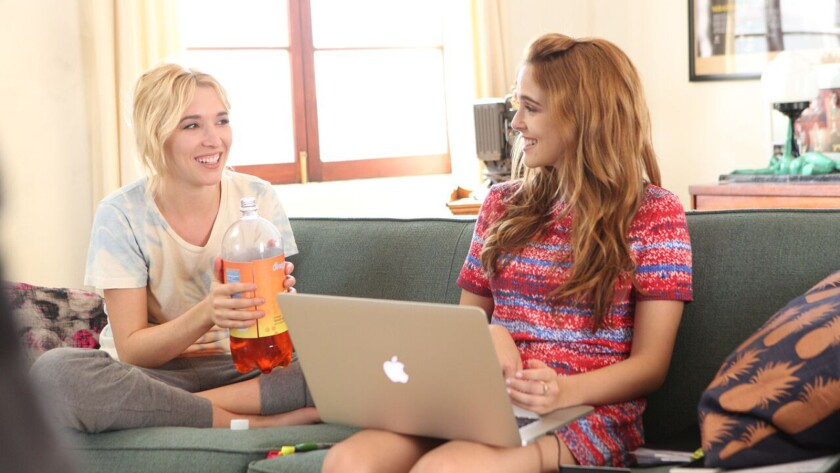 "Madelyn Deutch and Zoey Deutch in ""The Year of Spectacular Men"" movie."