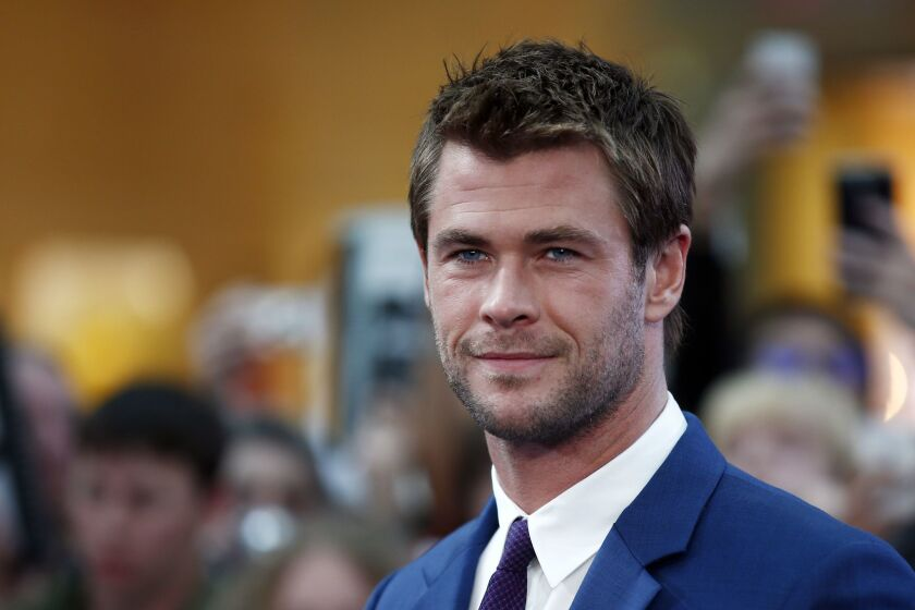 """Chris Hemsworth arrives at the European premiere of """"Avengers: Age of Ultron"""" in London on April 21."""