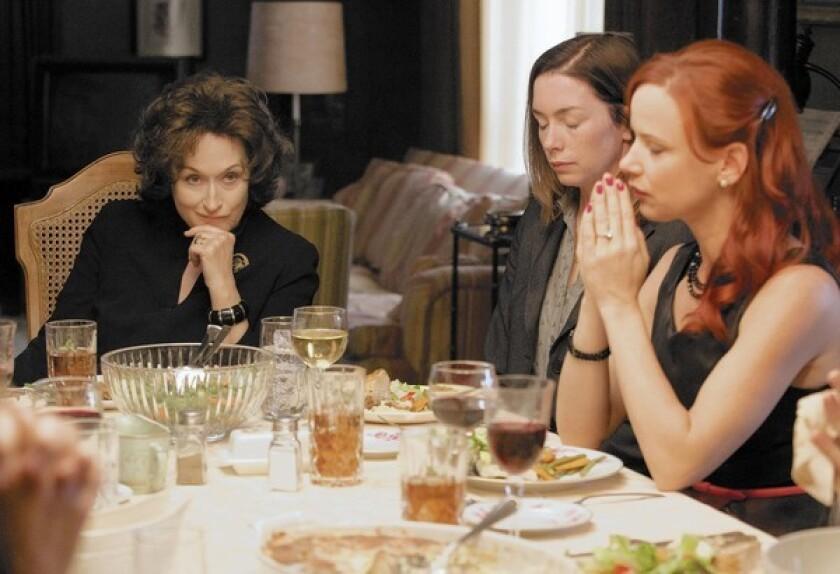 "Meryl Streep, left, Julianne Nicholson and Juliette Lewis star in ""August: Osage County."""