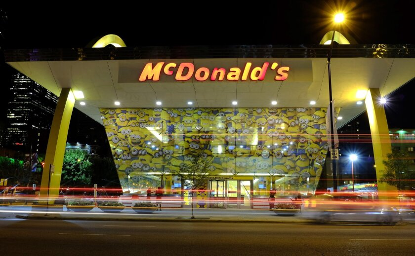 McDonald's said sales fell 2% at existing U.S. locations as featured menu offerings and promotions did not live up to expectations.