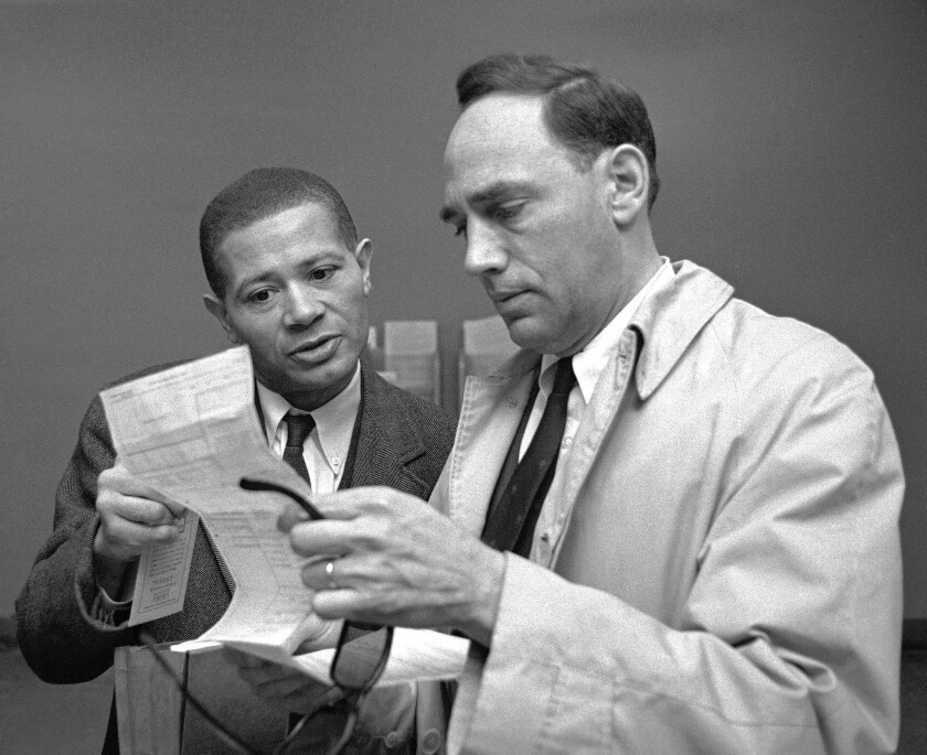 William Worthy and William Kunstler