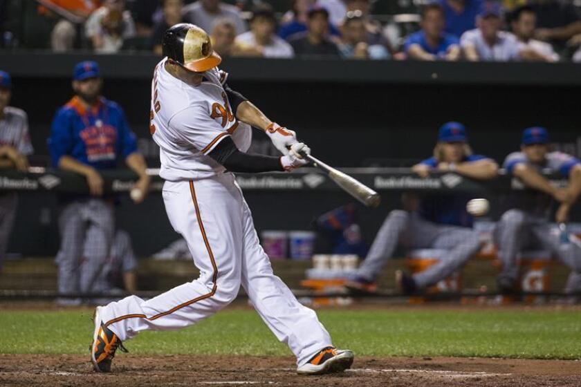 En la imagen, el jugador Manny Machado de los Orioles de Baltimore. EFE/Archivo