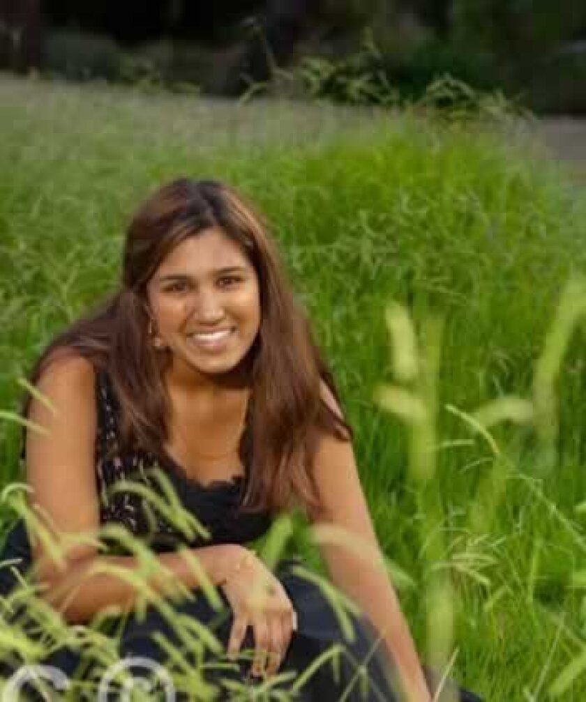 La Jolla High senior Maya Lakshman hopes to improve the lives of children in India. Courtesy