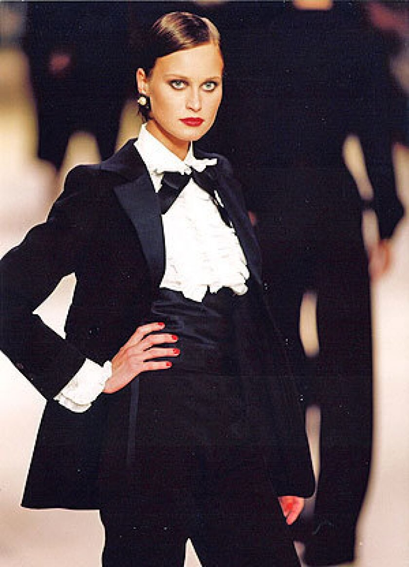 f401511b517 Yves Saint Laurent's death sparks EBay sales. Sleek. The Le Smoking tux is  one of the designer's most enduring pieces.