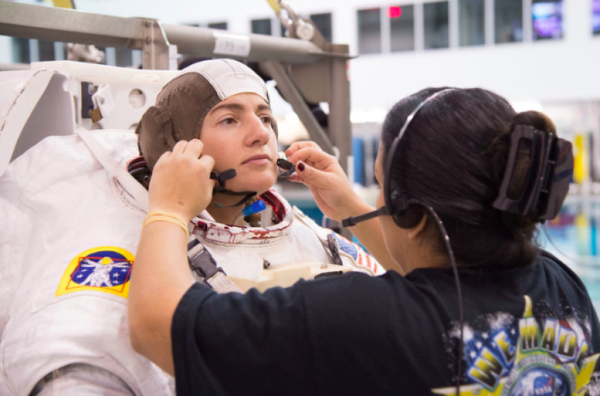 UC San Diego alumna Jessica Meir will spend six months aboard the space station as a NASA astronaut.