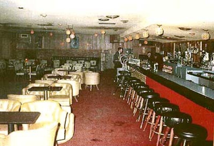 Inside the Fresno bar owned by Ara Arax, the author's father, and in which Ara was killed in 1972.