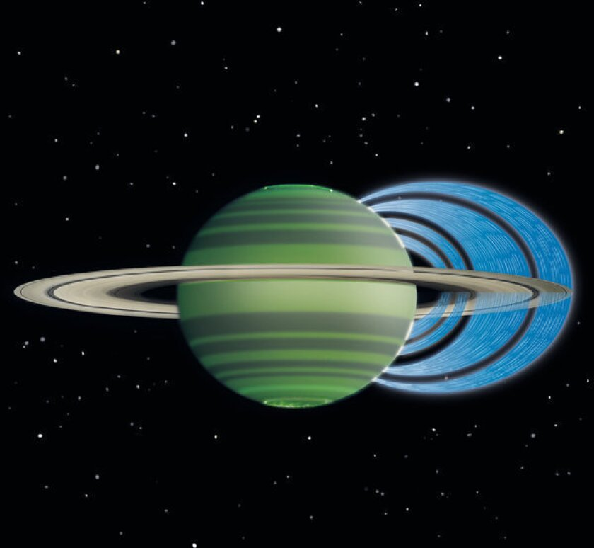 It's raining on Saturn, and the rings are responsible