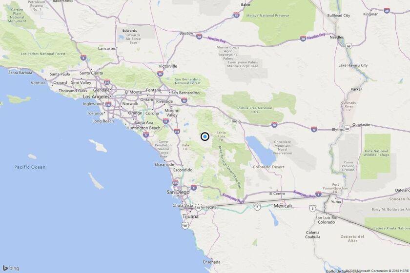 Earthquake: 3.1 quake strikes near Anza, Calif.