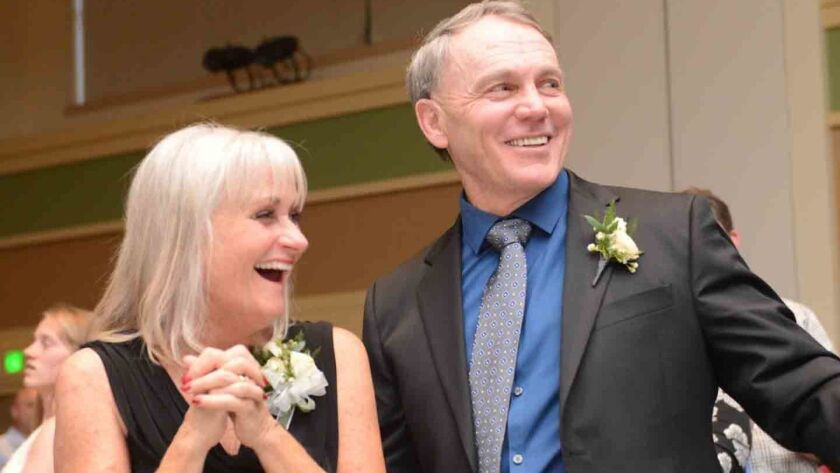 Patty and Wayne Branstetter during Saturday night's tribute dinner in Escondido.