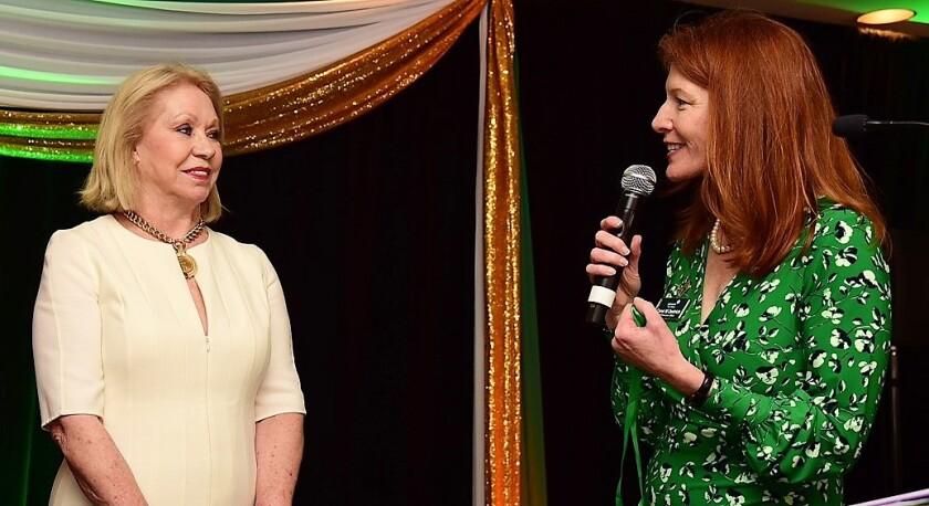 Joyce Glazer with Carol Dedrich, new girl scout (2).jpg