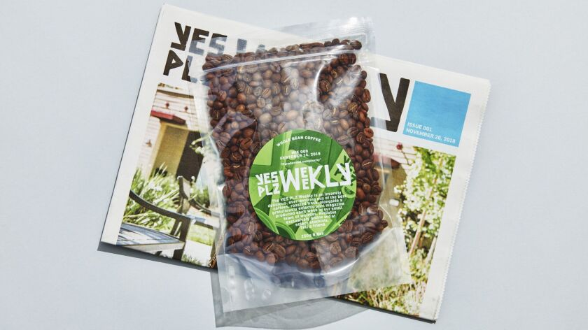 Yes Plz is a new subscription service that sends coffee weekly or every other week, plus a newsprint