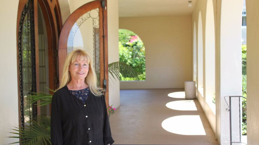 La Jolla Woman's Club new president Tona Macken at the Irving-Gill designed building gifted to the c
