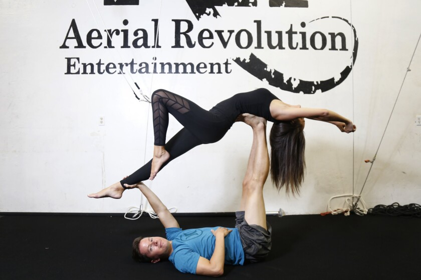 Blind Daters Crystal and Kris began their date at Aerial Revolution.