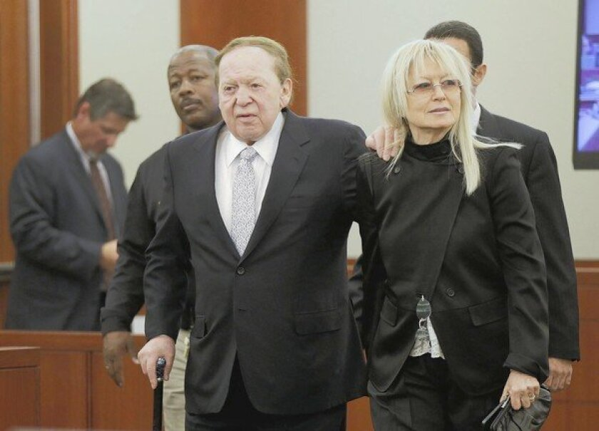Vegas magnate Sheldon Adelson comes out of the shadows