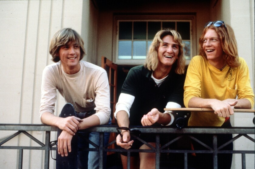 "Anthony Edwards, left, Sean Penn and Eric Stoltz in ""Fast Times at Ridgemont High."""