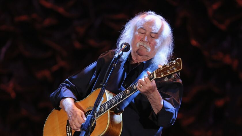 Folk rock musician David Crosby performs in Los Angeles, Music company BMG is financing a documentary about the singer and songwriter as part of its push into the film business.