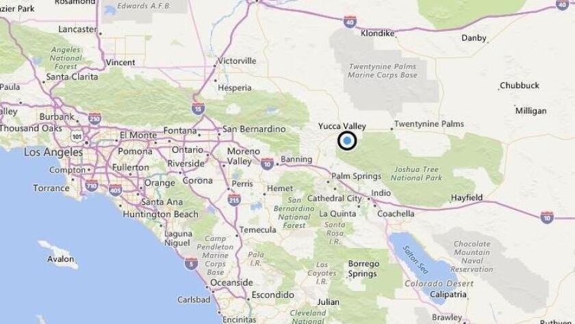 El mapa muestra el área exacta donde se registró el temblor esta mañana.