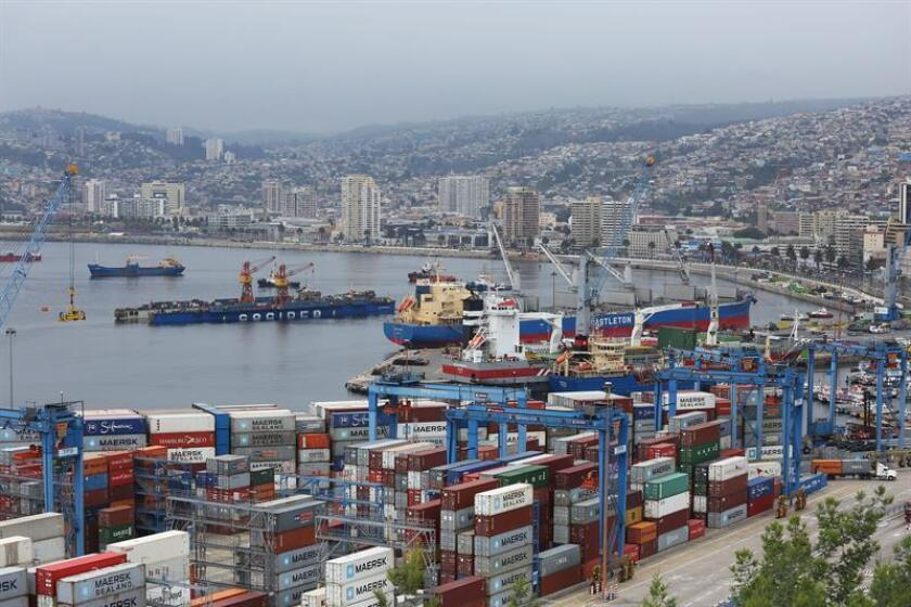 Vista general del Puerto de Valparaíso (Chile), sede de la 107? Convención Anual de la Asociación Americana de Autoridades Portuarias (AAPA). EFE