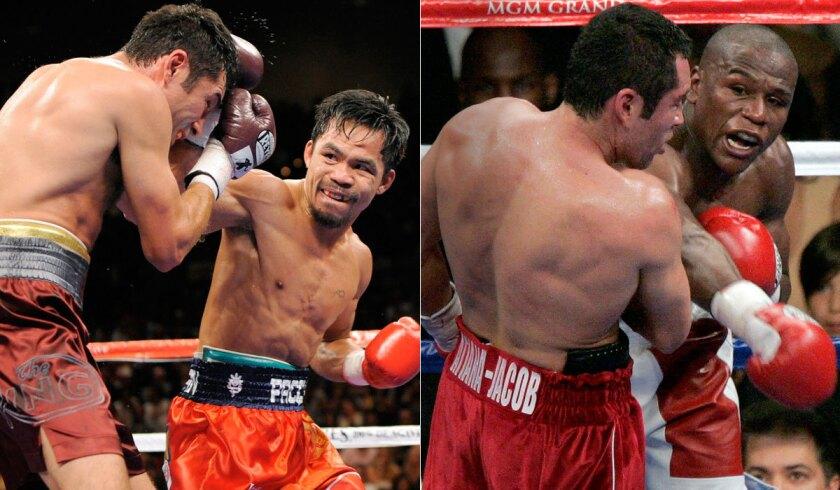 Oscar De La Hoya, Manny Pacquiao, Floyd Mayweather Jr.