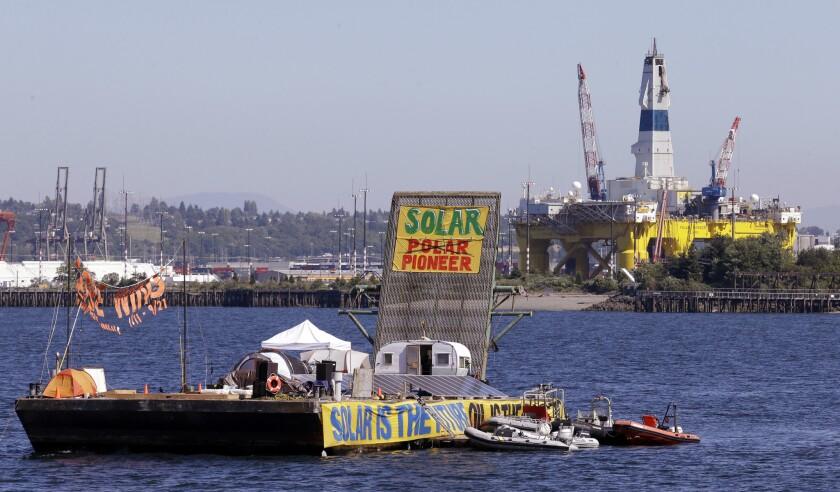 Arctic drilling protest