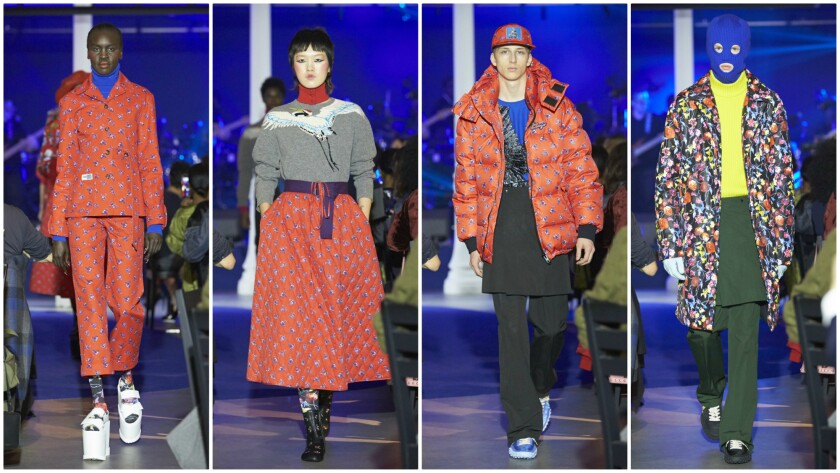 Looks from the Kenzo Paris La Memento Collection No. 1 presented on March 1 during Paris Fashion Week.