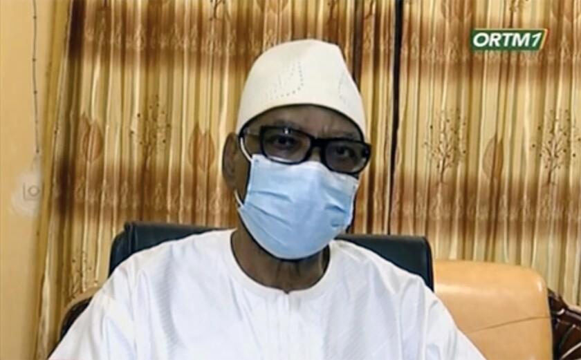 Deposed Malian President Ibrahim Boubacar Keita