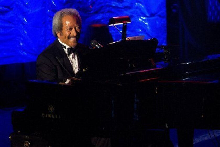 Inductee Allen Toussaint performs onstage at the 42nd Annual Songwriters Hall of Fame Awards in New York, Thursday, June 16, 2011. (AP Photo/Charles Sykes)