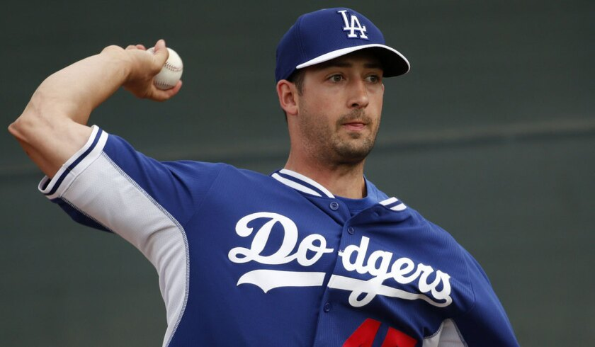 Joe Wieland started two games for the Dodgers this year and was 0-1 with an 8.31 earned-run average.