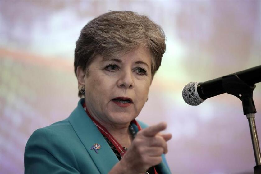 En la imagen, la secretaria ejecutiva de la Comisión Económica para América Latina y el Caribe (CEPAL), Alicia Bárcena. EFE/Archivo