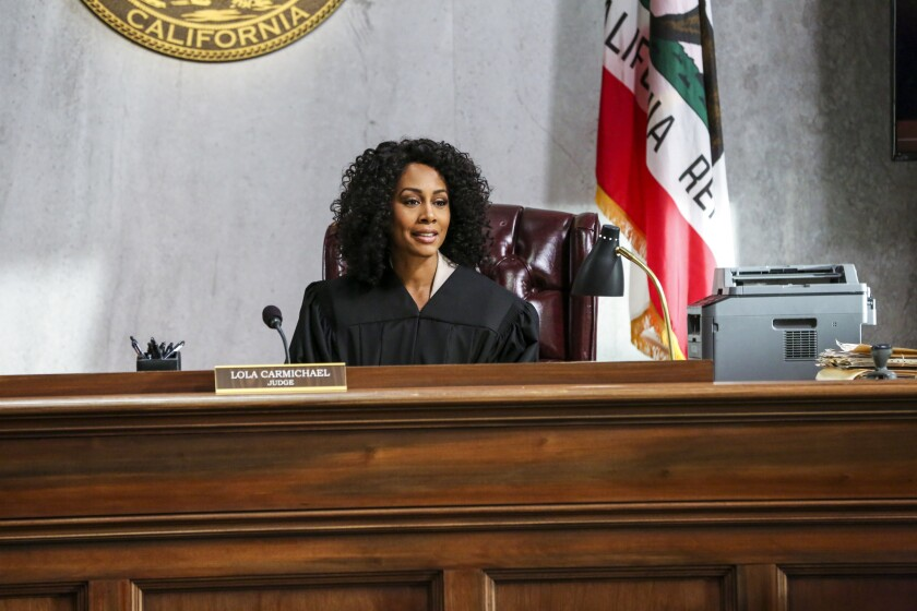 "Simone Missick in the CBS legal drama ""All Rise"""