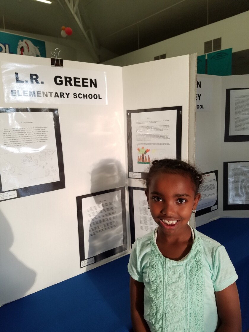 Hannah Schwiebert of L.R. Green Elementary was one of the Young Authors whose work was honored.